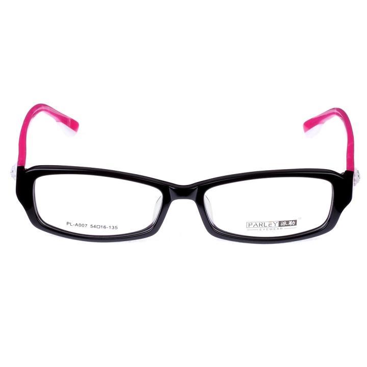 PARLEY派勒板材眼镜架-黑框红腿(PL-A007-C4)