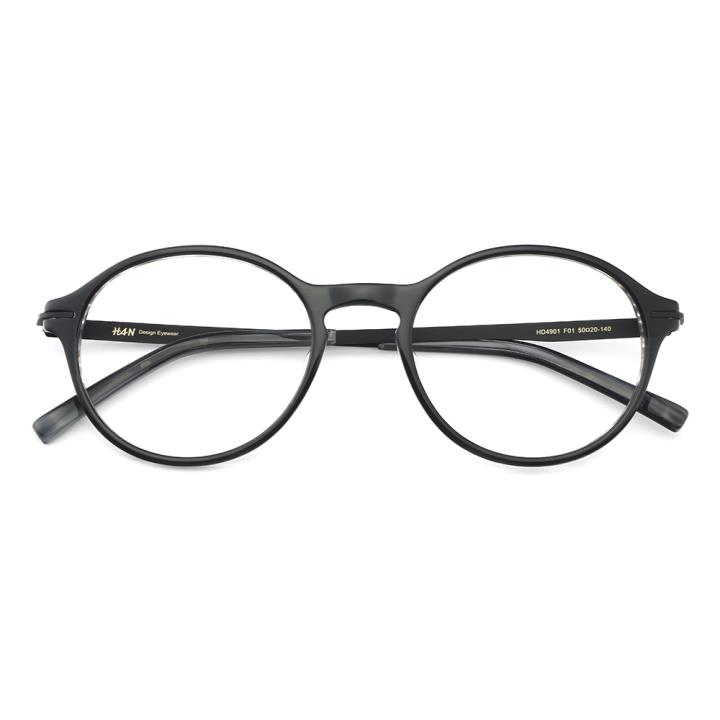 HAN板材时尚光学眼镜架-经典亮黑(HD4901-F01)