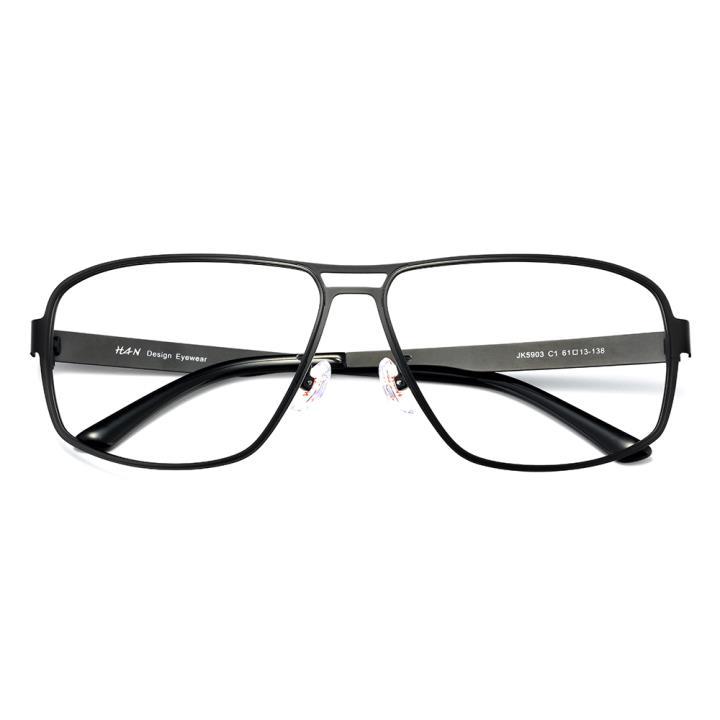 HAN不锈钢光学眼镜架-哑黑近视框(JK5903-C3)