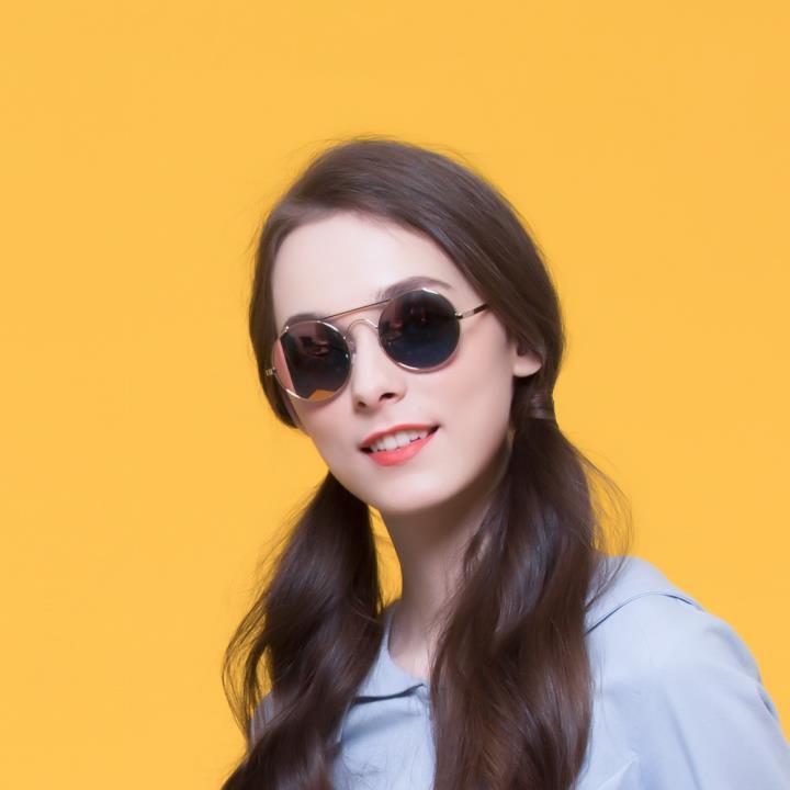 HAN RAZR-X9不锈钢偏光太阳眼镜-金框淡粉片(HN51201 C3)