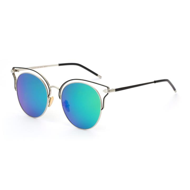 HAN SUNGLASSES偏光太阳眼镜HN52040M C4银框绿色片