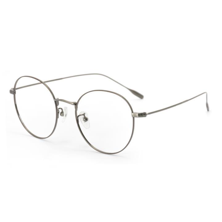 HAN TITANIUM纯钛光学眼镜架HN41032M C4枪色