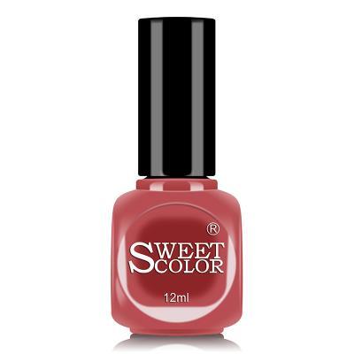 sweetcolor微光疗指甲油12ML绯红色 S281