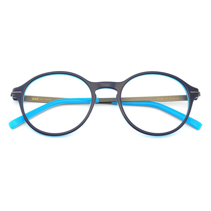 HAN板材时尚光学眼镜架-时尚深蓝(HD4901-F07)