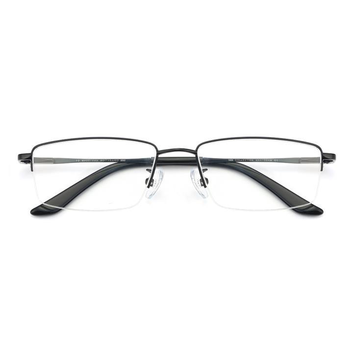 HAN COLLECTION金属光学眼镜架-亮黑色(HN41004M C1)