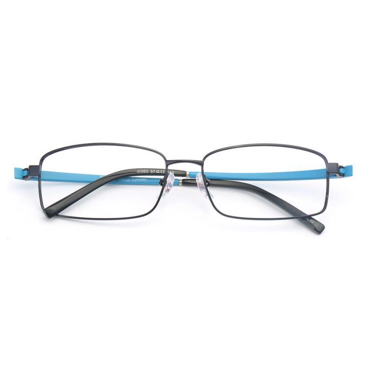 HAN不锈钢TR光学架-活力黑蓝(M960-C02)