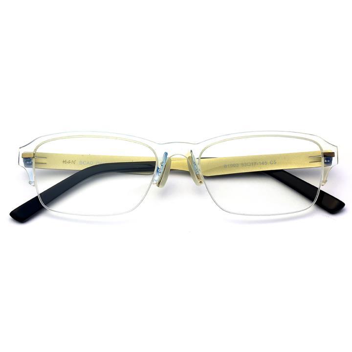 HAN尼龙不锈钢光学眼镜架-透明(B1003-C5)