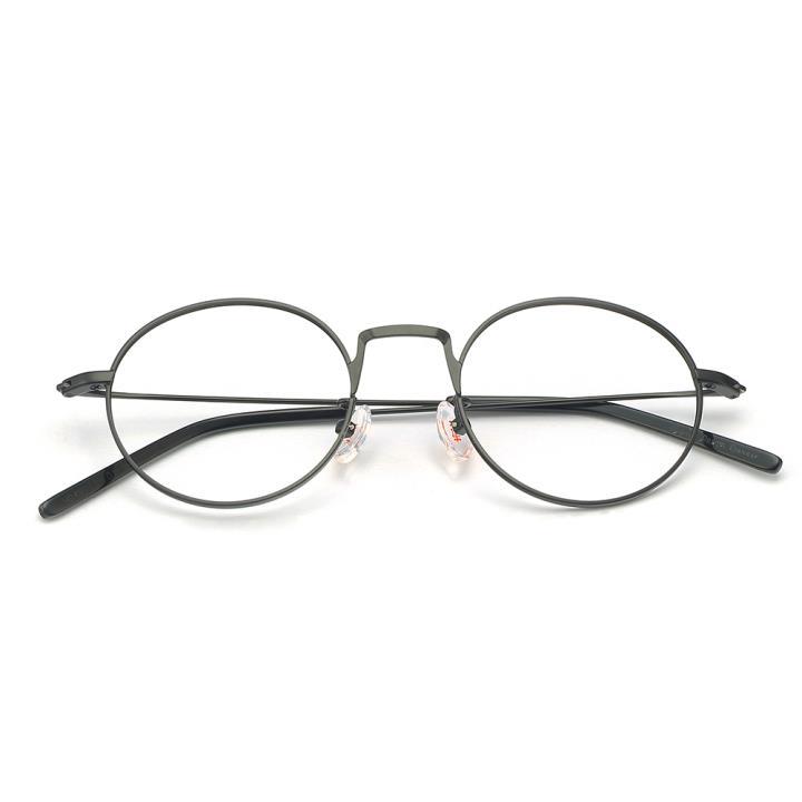 HAN不锈钢光学眼镜架-哑黑色(HD49213-F01)