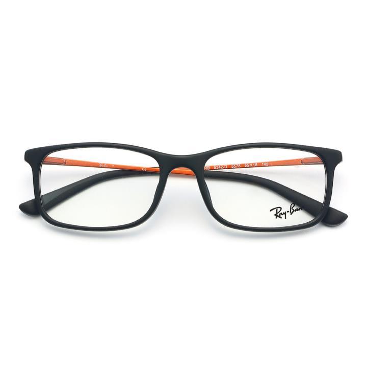 RAY BAN雷朋板材眼镜架-黑色(0RX5342D 5578 55)