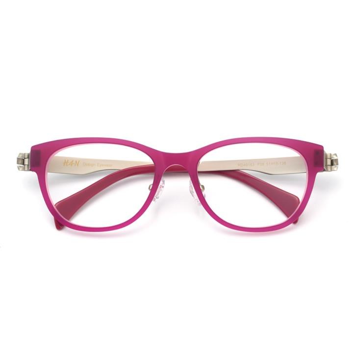 HAN TR金属光学眼镜架-浪漫玫红(HD49163-F08)