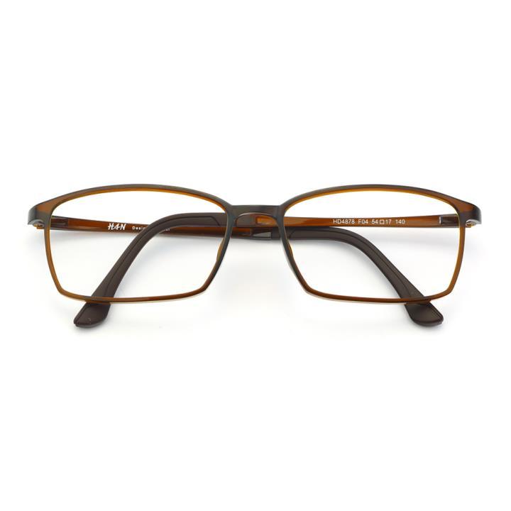 HAN塑钢时尚光学眼镜架-亮棕(HD4878-F04)