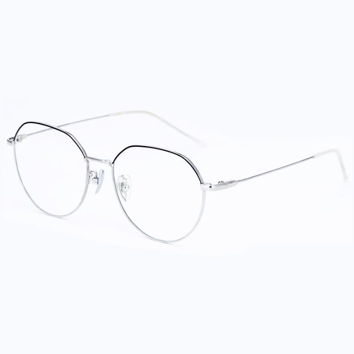 HAN TITANIUM纯钛光学眼镜架HN42132S C1黑银
