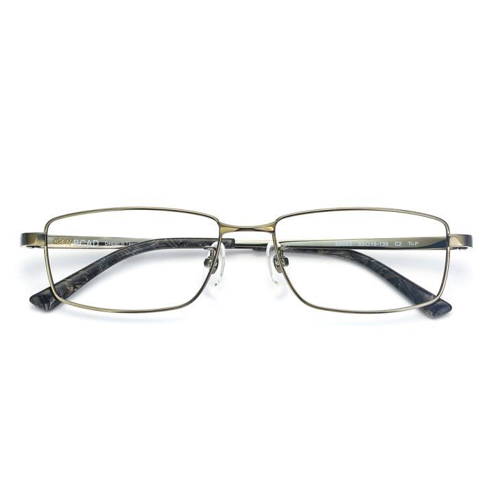 HAN纯钛光学眼镜架-枪色(B8003-C2)