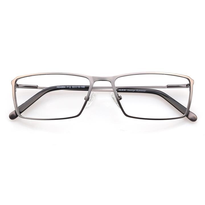 HAN时尚光学眼镜架HD4864-F12 低调枪灰