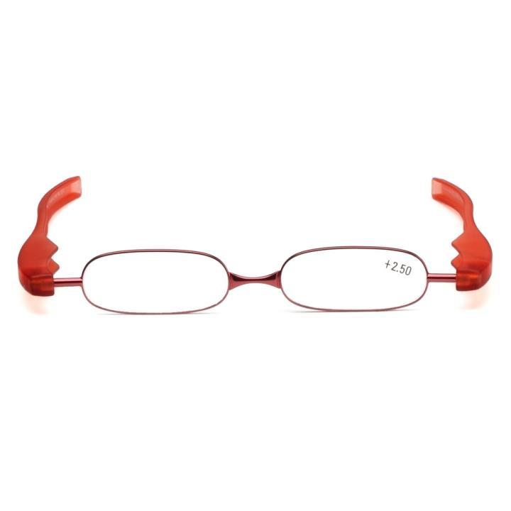 360度旋转折叠老花眼镜红色