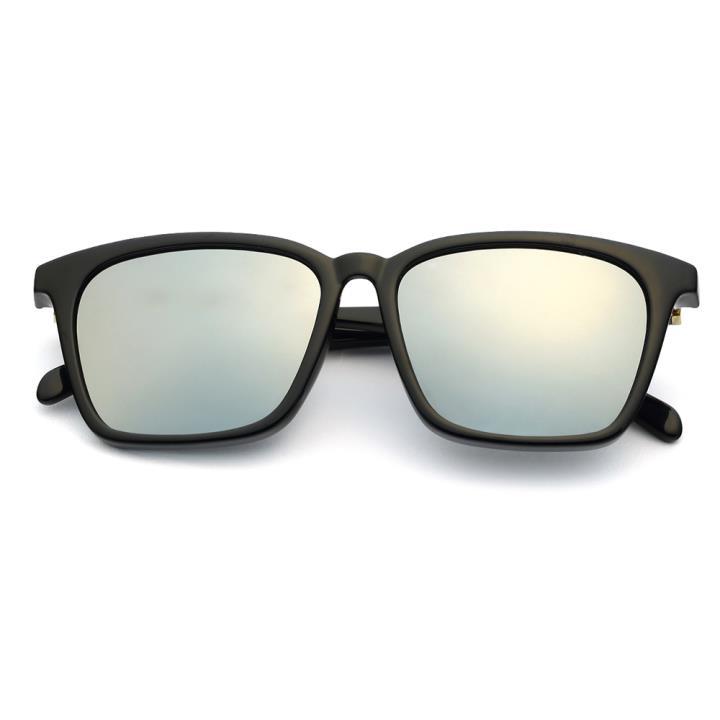 HAN时尚偏光太阳镜HD5812-S09 黑框银色片