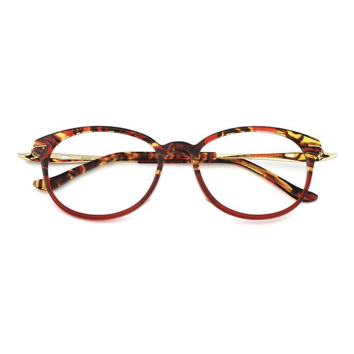HAN板材时尚光学眼镜架-花色红(HD4904-F06)