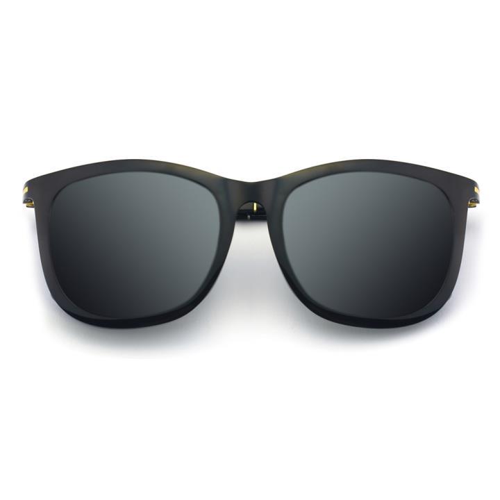 HAN时尚偏光太阳镜-黑框黑灰片(HD5836-S01)