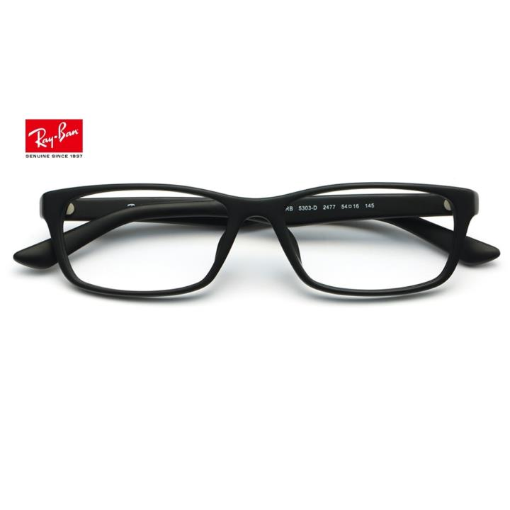RAY BAN雷朋板材眼镜架ORX5303D 2477 54 哑黑