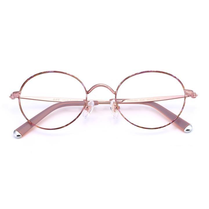 HAN合金光学眼镜架-粉紫玳瑁(HN49362-C04)