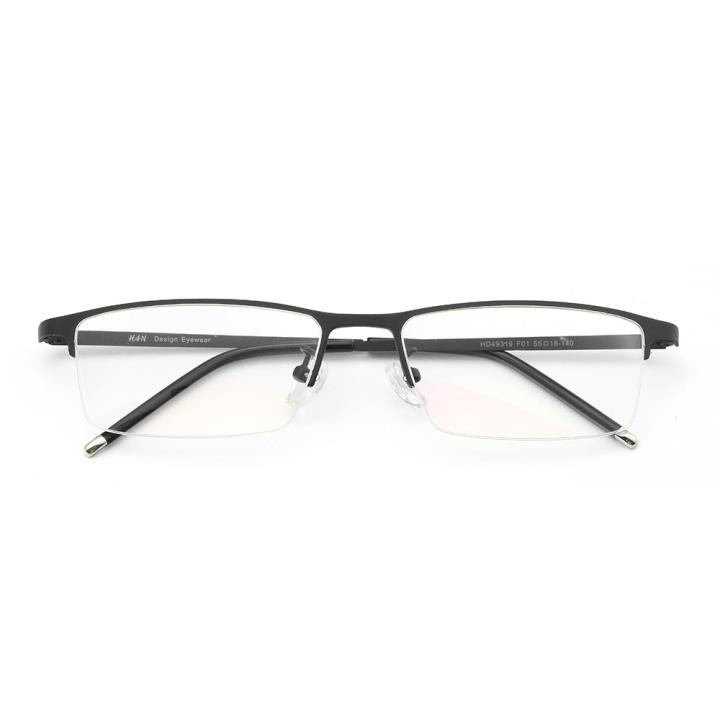 HAN不锈钢光学眼镜架-经典哑黑(HD49319-F01 )