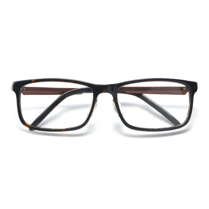 HAN醋.酸纤维白铜光学眼镜架-复古玳瑁(HD49310-F03)