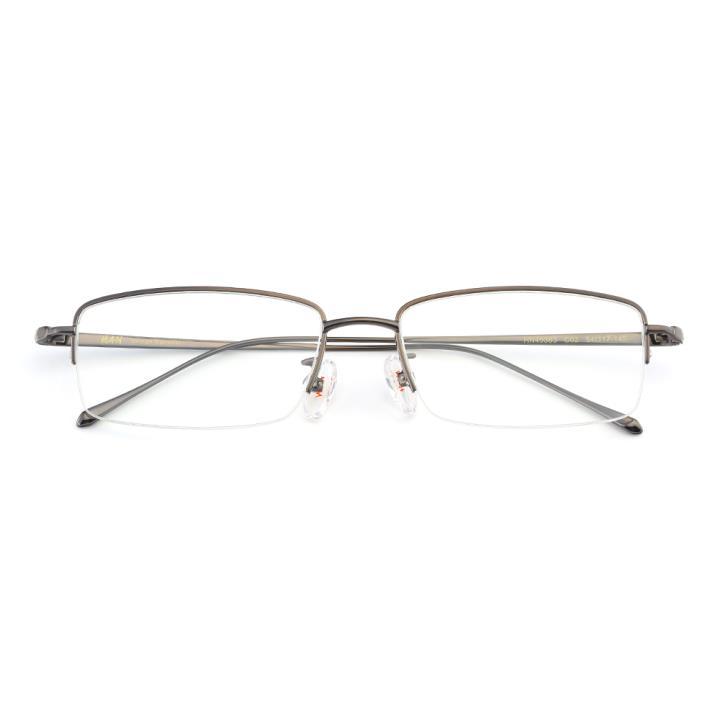 HAN纯钛光学眼镜架-睿智枪灰(HN49383-C02)