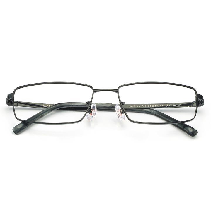 HAN 纯钛板材光学镜架-亮黑色(HD49119-F01)
