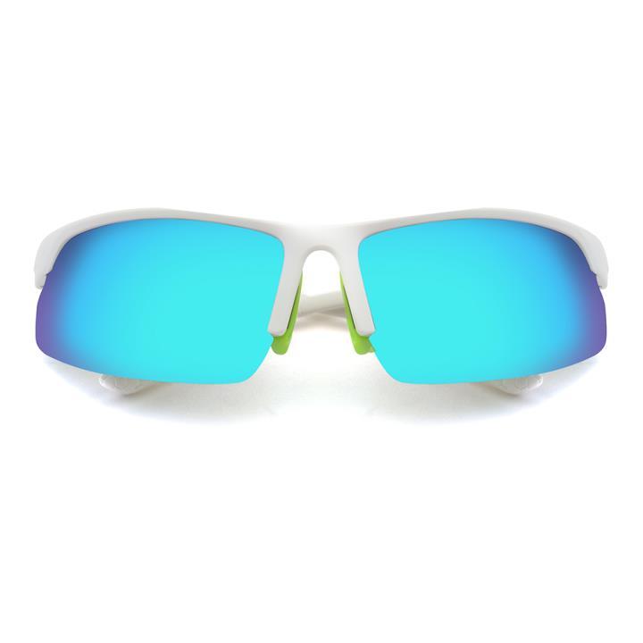 HAN TR偏光太阳镜-白框炫彩蓝绿片(HN59413-C4)