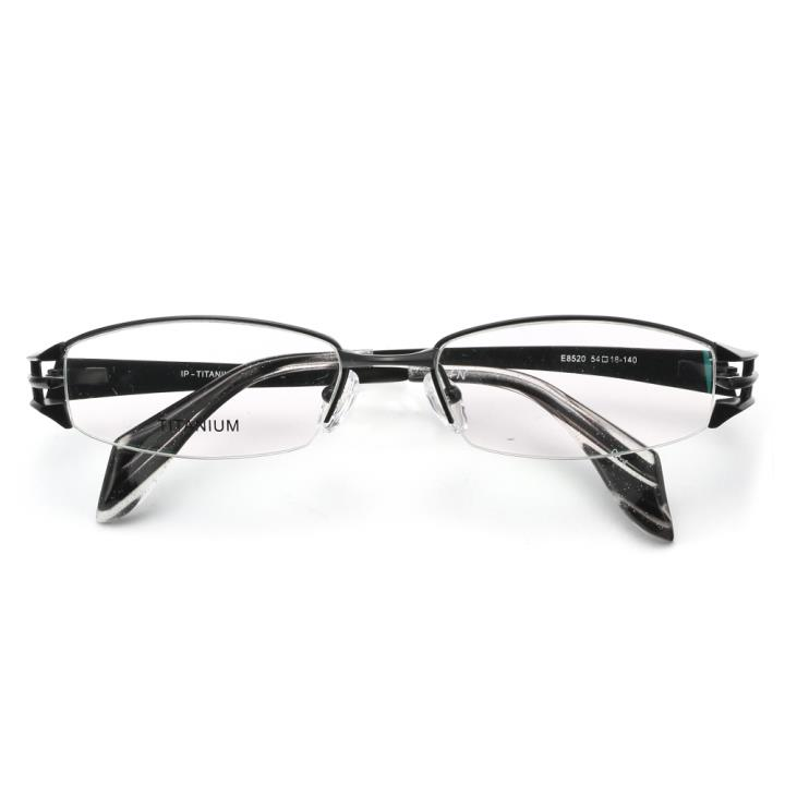 HAN纯钛光学眼镜架-经典纯黑(E8520-C2-4)