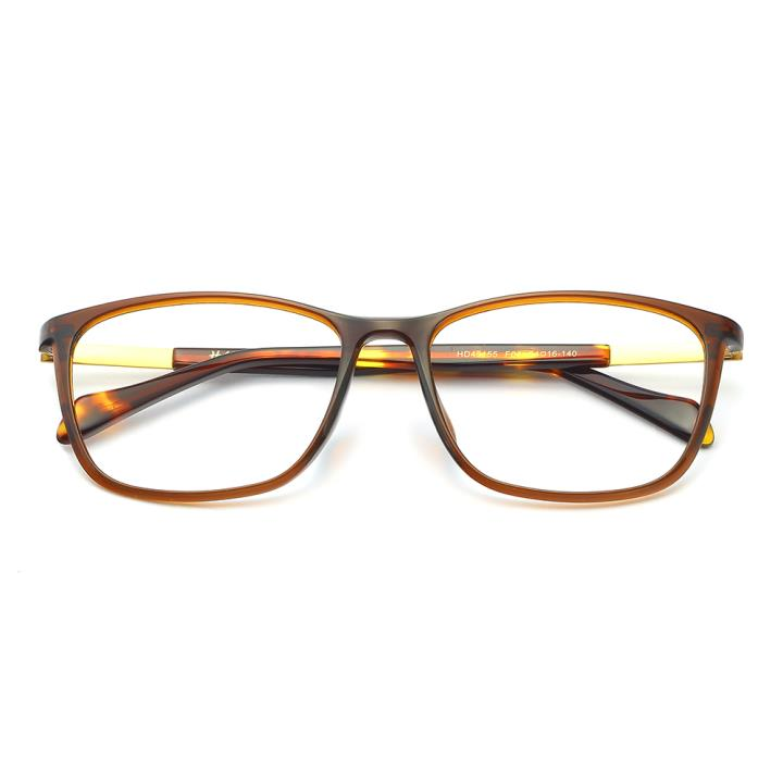 HAN TR板材光学眼镜架-优雅亮棕(HD49155-F04 )