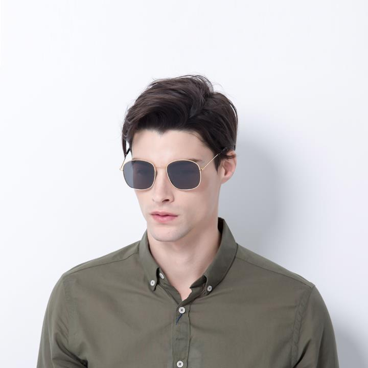 HAN SUNGLASSES防UV太阳眼镜HN52018M C2 金框黑灰片