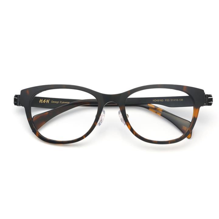 HAN TR金属光学眼镜架-时尚玳瑁(HD49163-F03)