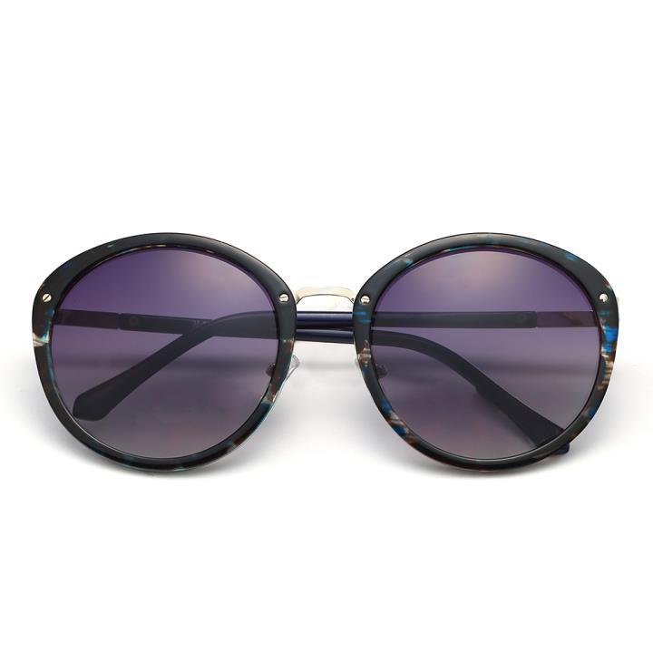HAN时尚防紫外线太阳镜HD59301-S04 点蓝框渐进蓝片
