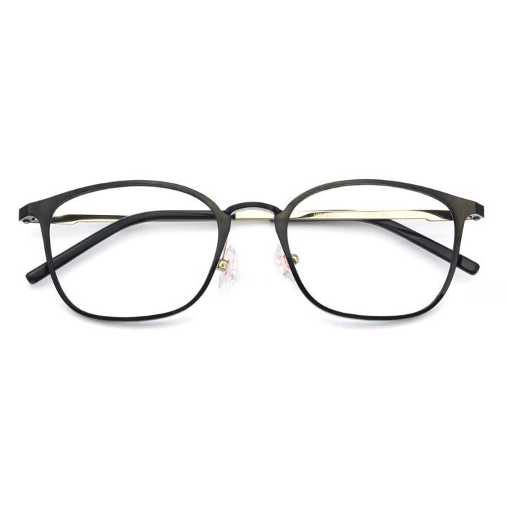 HAN MEGA-TR钛塑不锈钢光学眼镜架-经典亮黑(HD49200-F01)