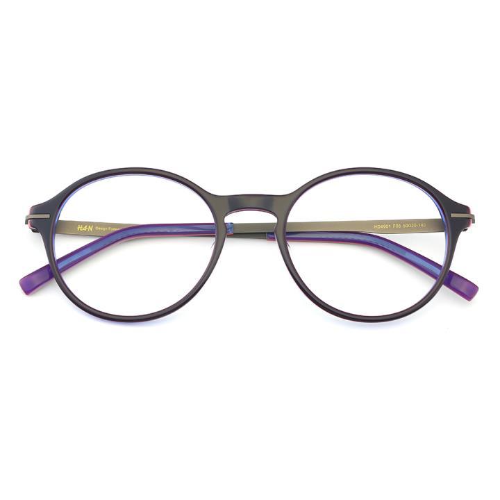 HAN板材时尚光学眼镜架-新潮暗紫(HD4901-F08)