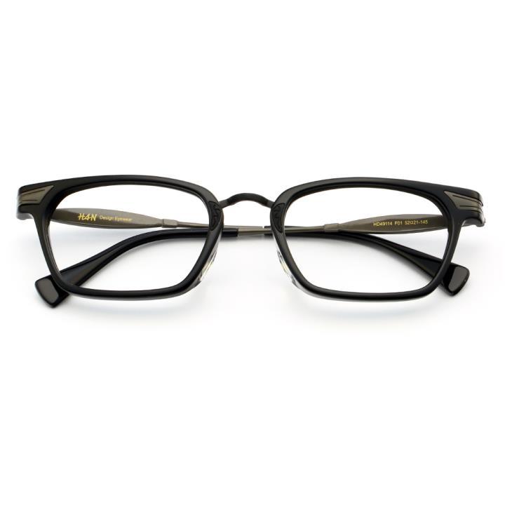 HAN时尚光学眼镜架HD49114-F01经典哑黑
