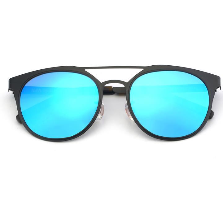 HAN SUNGLASSES不锈钢偏光太阳镜-黑框蓝(HD59320-C1)