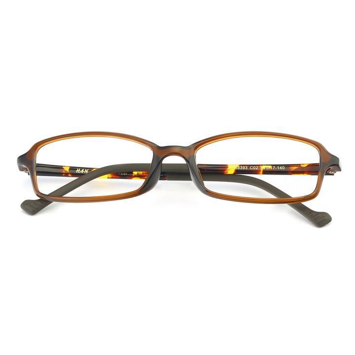 HAN MEGA-TR钛塑光学眼镜架-玳瑁棕(HN48393-C02)