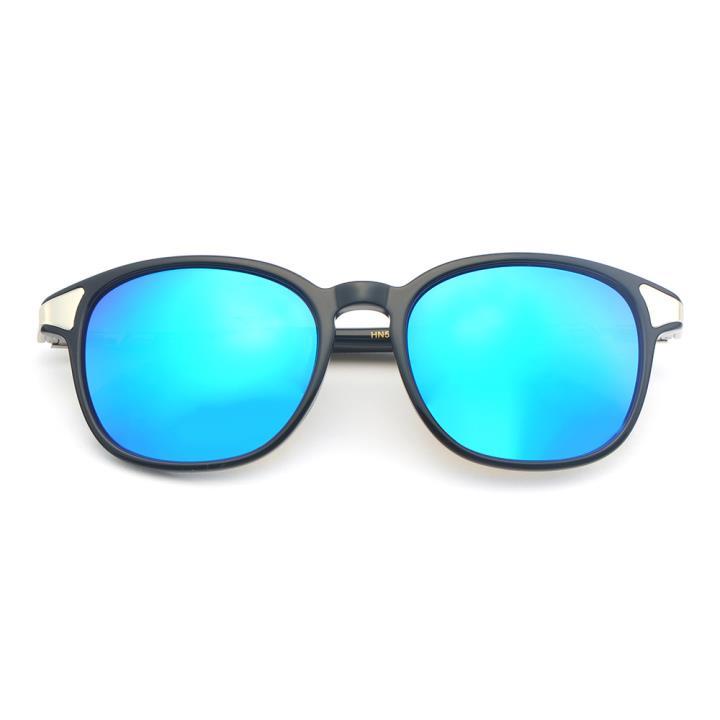 HAN板材偏光太阳镜-黑框镀膜蓝片(HN59352-C2)