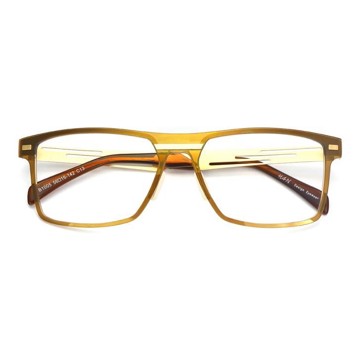 HAN尼龙不锈钢光学眼镜架-典雅茶色(B1005-C13)