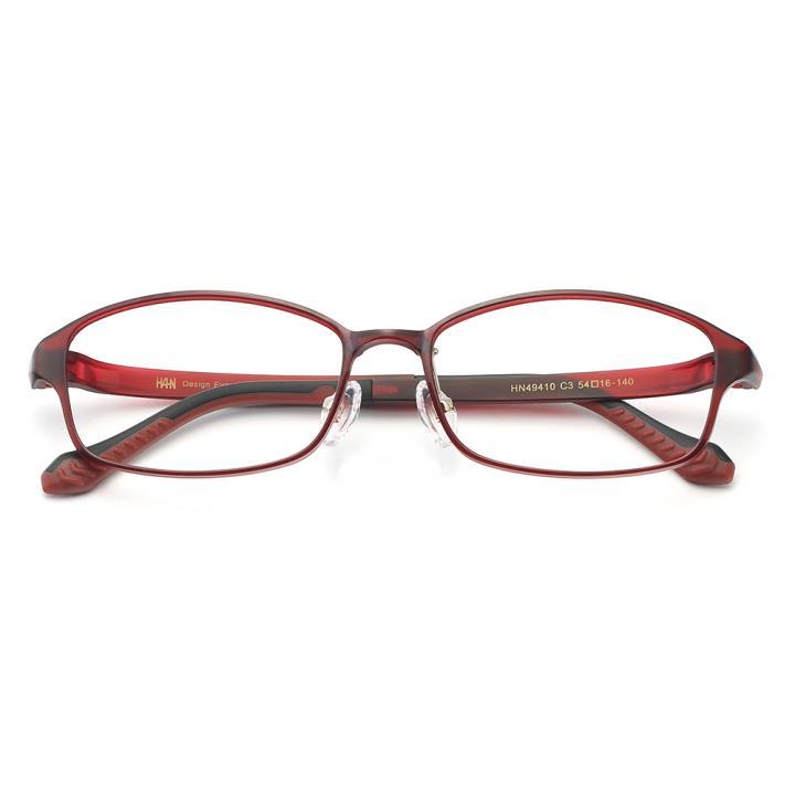 HAN时尚光学眼镜架HN49410-C3 酒红