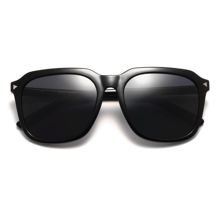 HAN时尚偏光太阳镜HDX5801-S01 黑框黑灰片