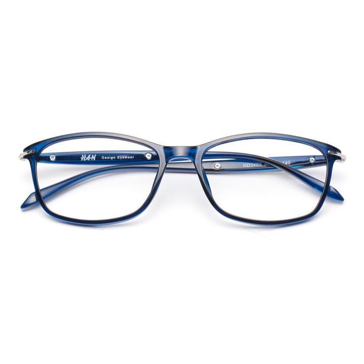 HAN MEGA-TR钛塑近视眼镜架-深蓝(HD3403-F07)