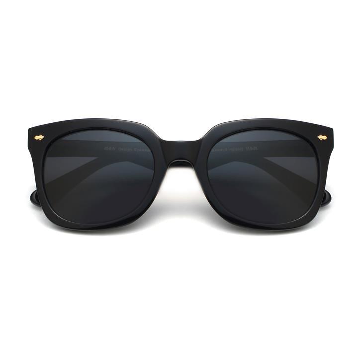 HAN时尚偏光太阳镜HD5831-S01 黑框黑灰片