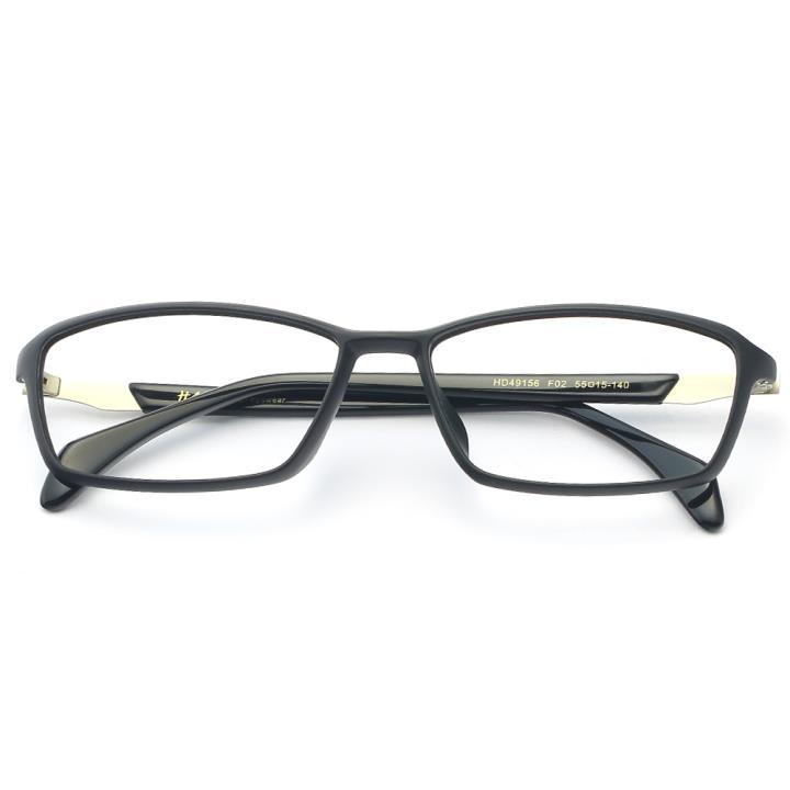 HAN MEGA-TR钛塑板材光学眼镜架-质感哑黑(HD49156-F02)