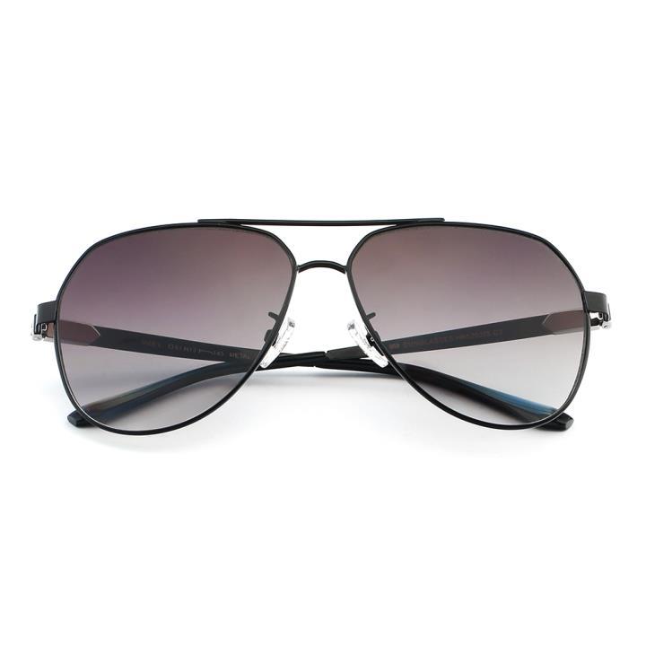 HAN 合金防UV太阳眼镜-黑框黑灰片(HN52020L C2)