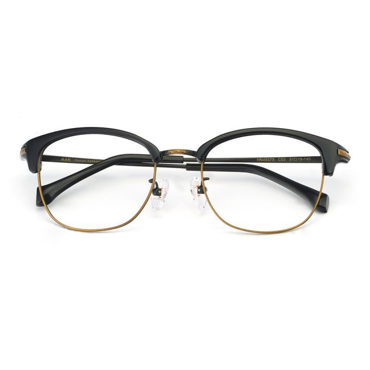 HAN 合金PC光学眼镜架-复古黑铜(HN49379-C02)