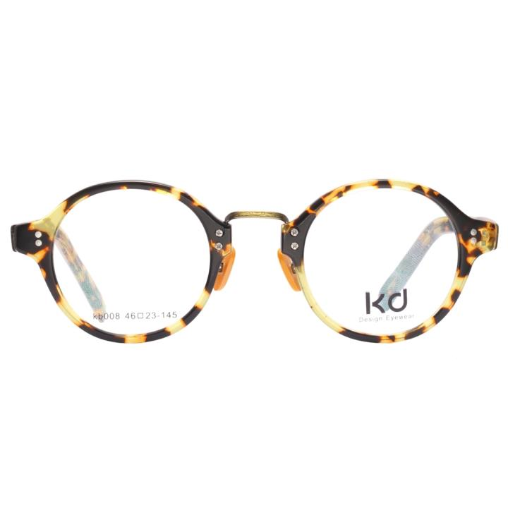 KD设计师手制复古板材金属眼镜kb008-C1