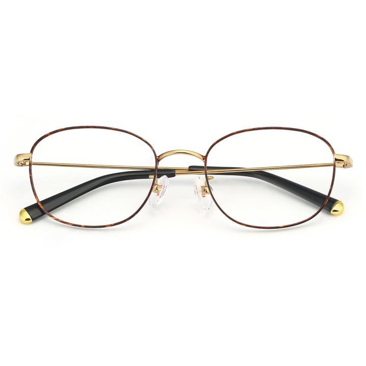 HAN合金光学眼镜架-玳瑁色(HN49365-C03)
